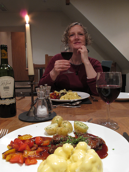 Welsh lamb and red wine, mmmmm