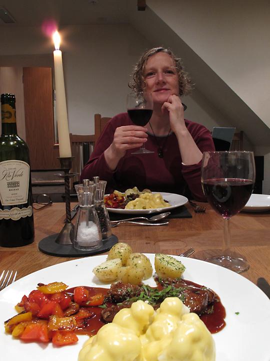 Welsh lamb and red wine, mmmmm