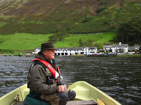 Emyr opposite the hotel at Tal-y-Llyn Lake